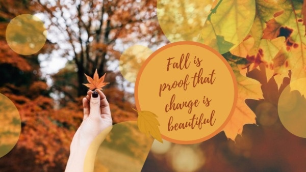 Online Yellow Fall Leaves Quote Google Cover Template Fotor Design Maker