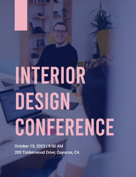 Interior Design Conference Program Flow