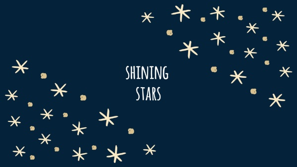 Blue & Golden Shining Stars