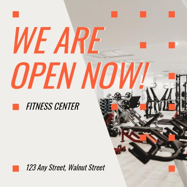 Simple Gym Opening Ads