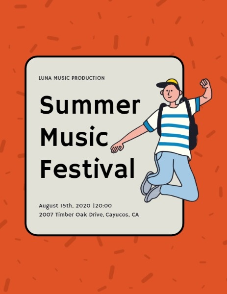 Brisk Summer Music Festival Program Flow