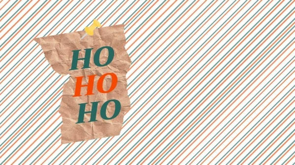 HO HO HO Christmas Background