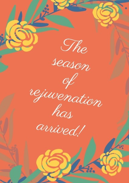 The Season Of Rejuvenation