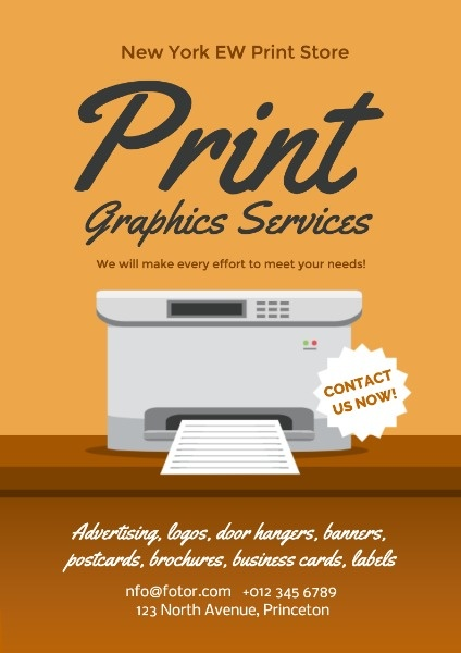 Print Store Advertising Poster