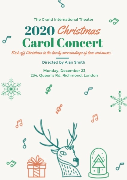 Deer Christmas Carol Concert
