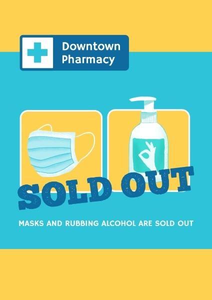 Pharmacy Sold Out Poster