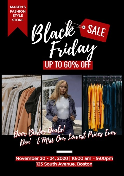Black Friday Fashion Store Sale