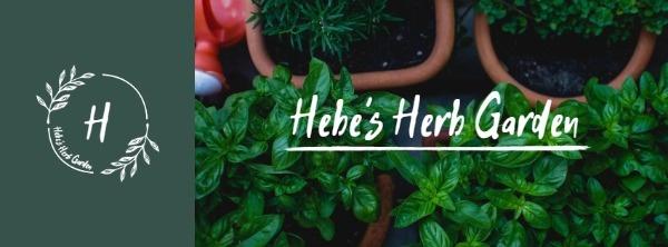 Green Herb Garden Banner