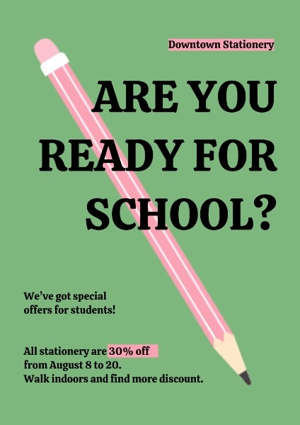 Pink Pencil Poster