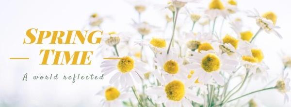White Bud Spring Time Banner