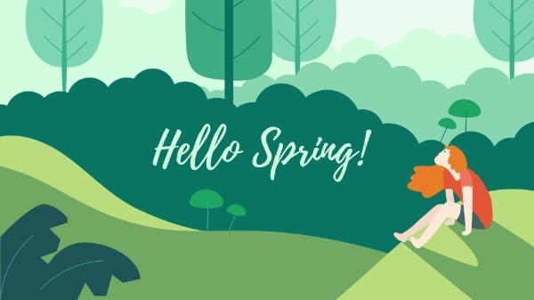 Green Hello Spring