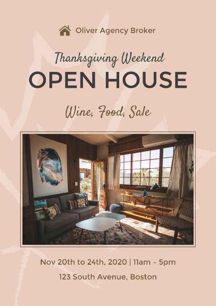 Thanksgiving Open House Business