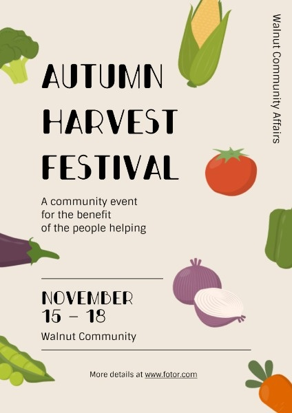 Simple Autumn Harvest Festival