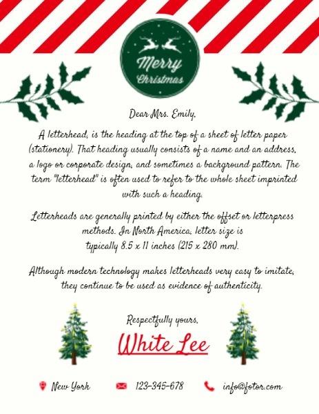 White Christmas Letter