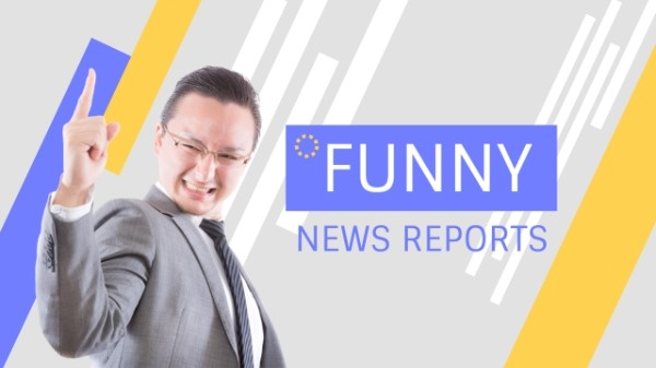 Funny News Report Youtube Banner