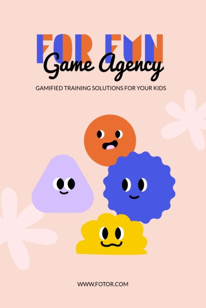 Pink Cartoon Game Agency