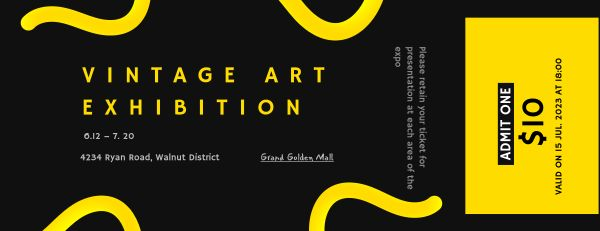 Art Exhibition Ticket