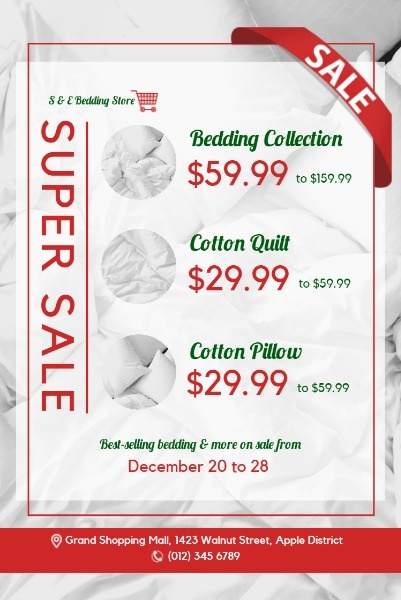 White Bedding Sale