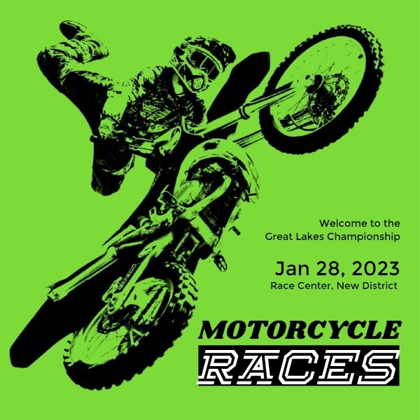 Green Motorcycle Racing Game