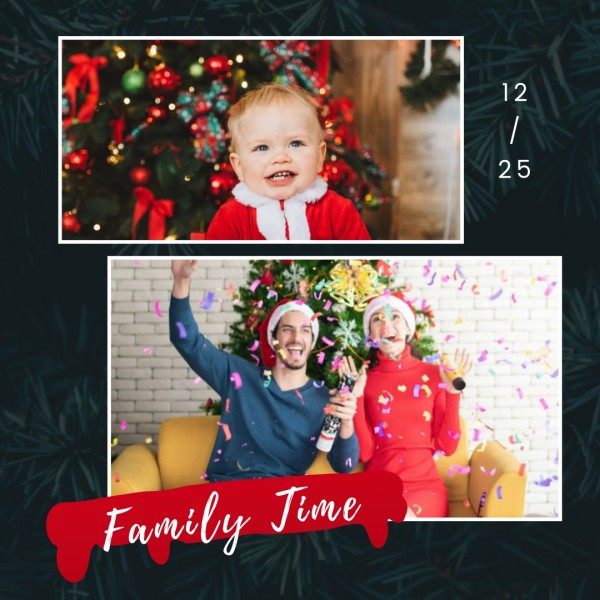 Family Time Christmas Instagram Post