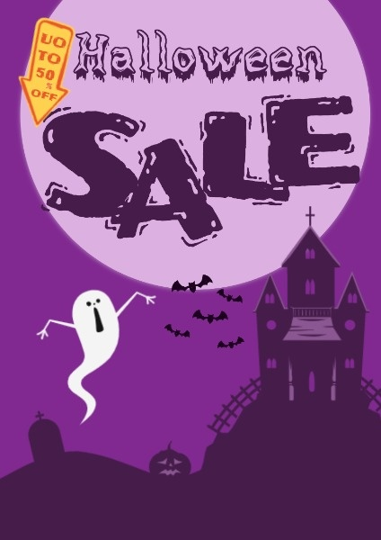 Purple Halloween Discount Sale