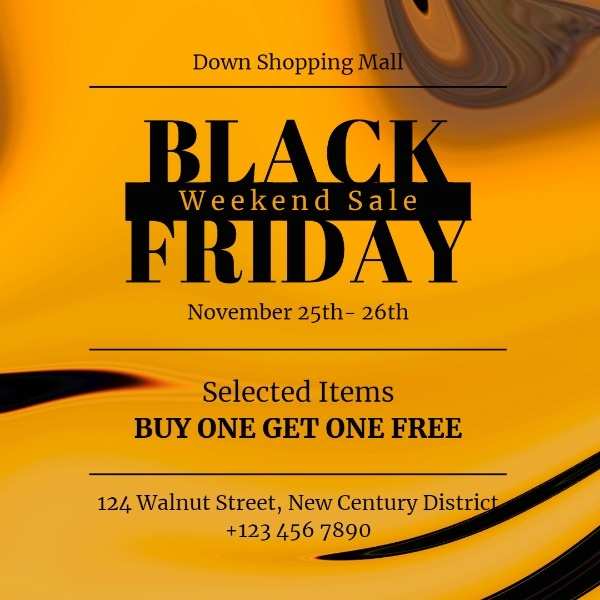 Orange Black Friday Weekend Sale