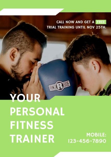 Blue Personal Fitness Trainer