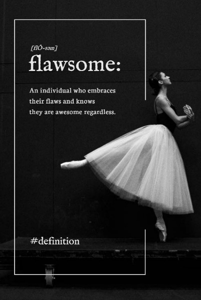 Black And White Ballet Girl Quote