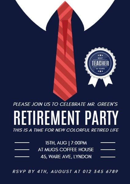 Online Retirement Party Invitation Template