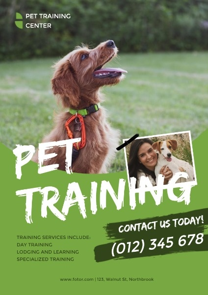 Green Pet Training Service Ads