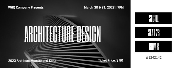 Black And White Architecture Design Salon And Meetup