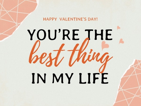White And Orange Valentine's Day Confession