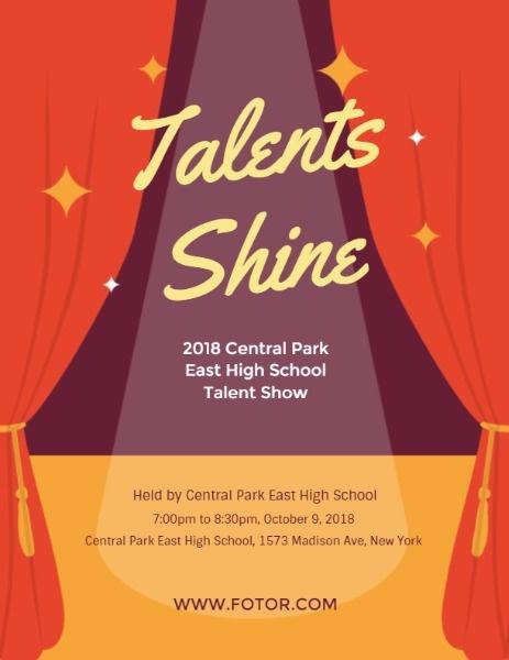 online talent show program template fotor design maker