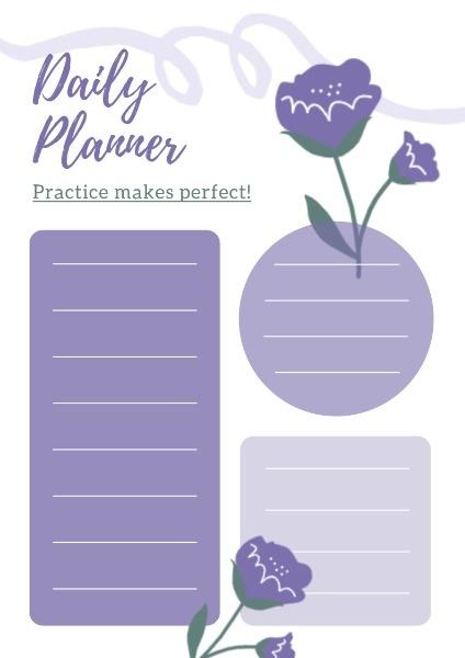 Artistic Flower Daily Planner