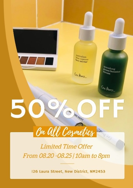 Yellow Cosmetics Sale