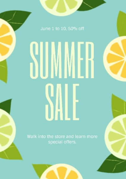 Blue Summer Sale