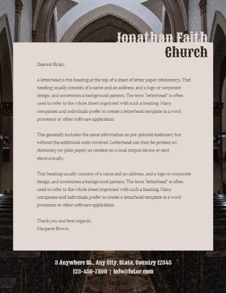 Sunday Church Letter