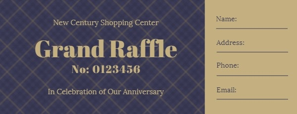 Grand Marketing Raffle Ticket
