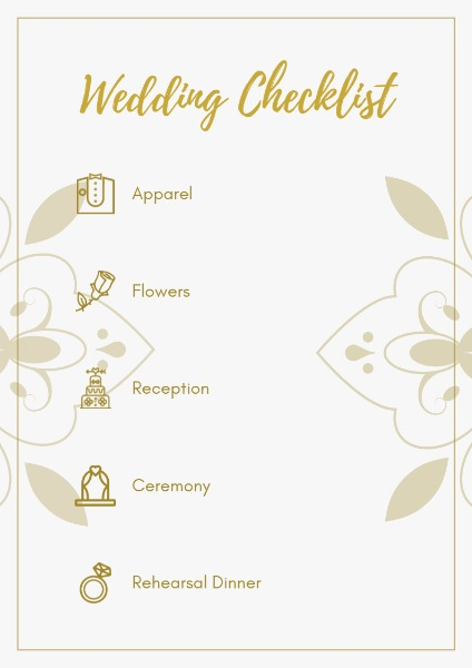 online wedding checklist planner template fotor design maker