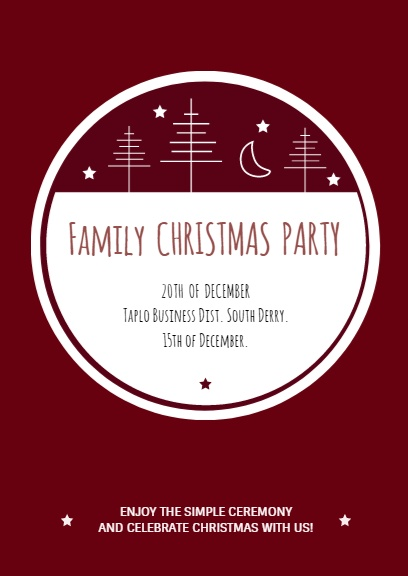 Customize Christmas Invitation Design Templates Layouts