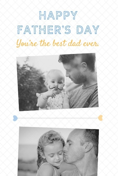Dark Father's Day Collage
