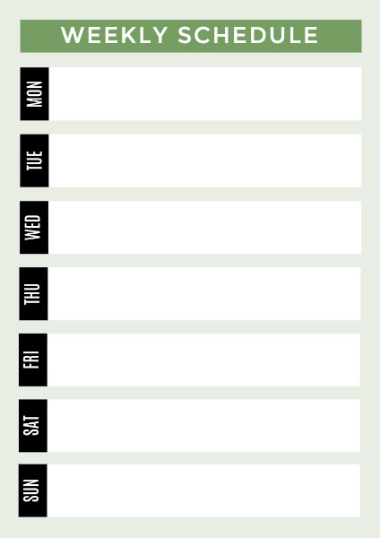 online weekly schedule planner template fotor design maker