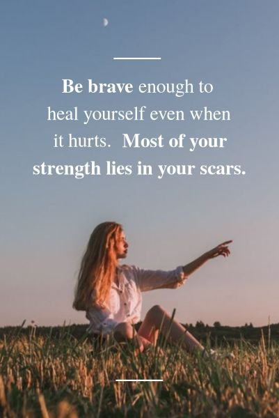 Be Brave Plant Quote