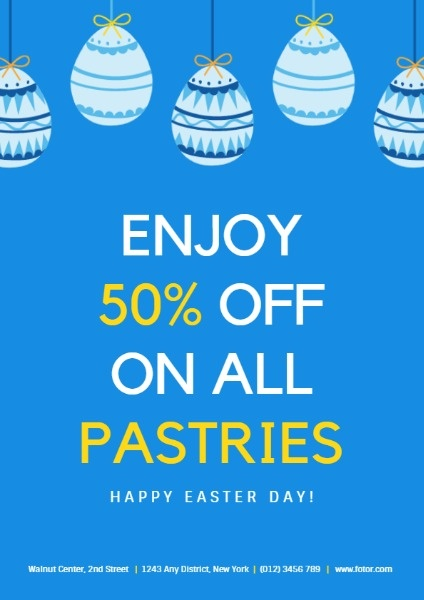 Blue Easter Pastries Discount Sale