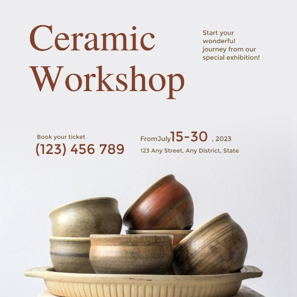 Ceramic Workshop Instagram Post