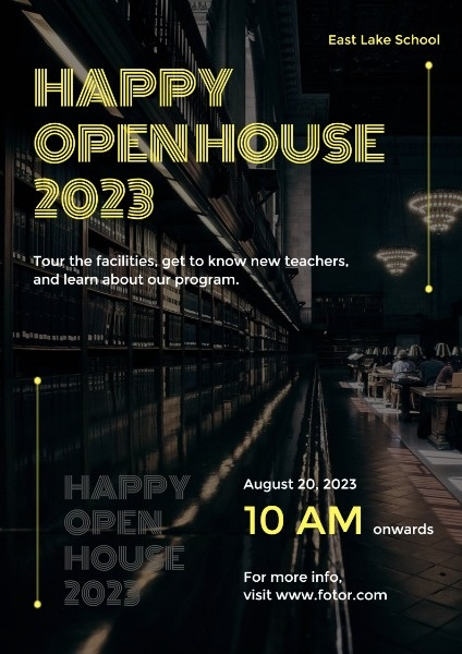Open House Day Poster