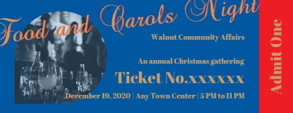 Food And Carol Night Party Ticket