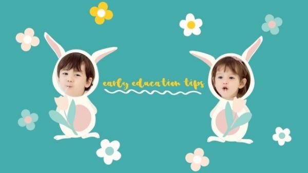 Cute Easter Rabbit Cartoon Banner
