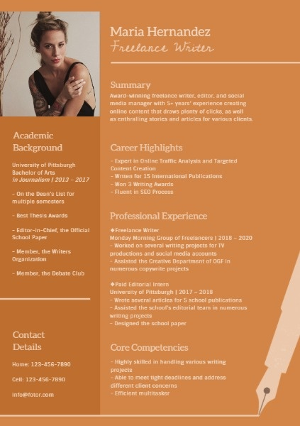Freelancer Resume