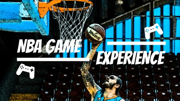 Blue NBA Game Advertisement Youtube Channel Art